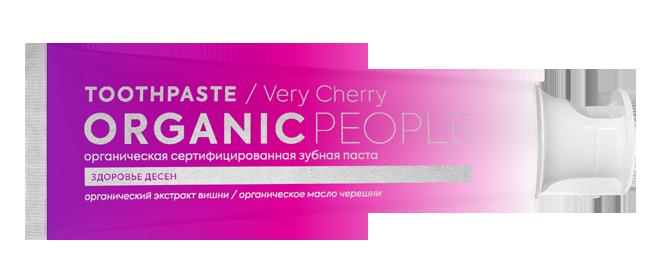 Органическая сертифицированная зубная паста ORGANIC PEOPLE VERY CHERRY