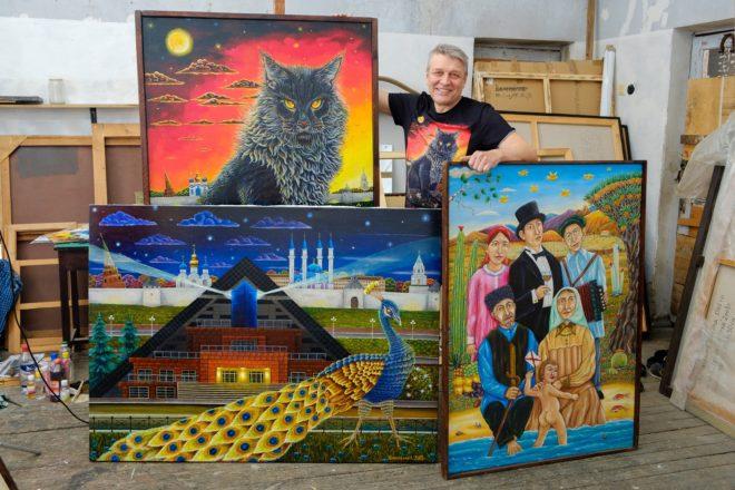 Альфрид Шаймарданов со своими работами