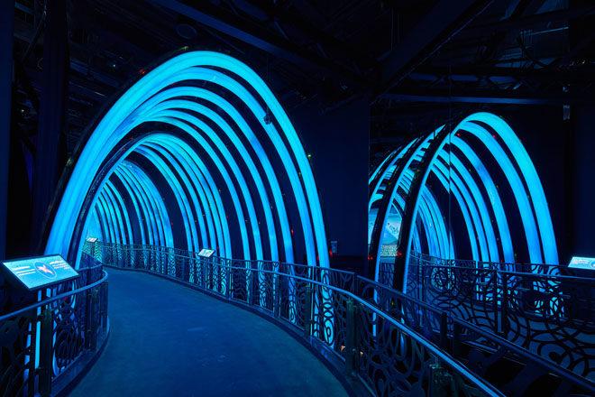 Sustainability pavilion exhibition interior