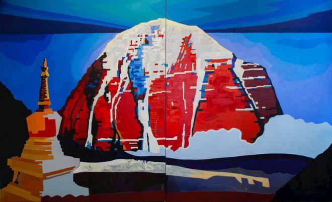 Конюхов Ф.Ф. Гора Кайлас. 2020. Холст, масло. Из коллекции Ю.В. Рязанова
