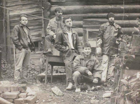 Дмитрий Булныгин, Александр Голиздрин, Олег Еловой, Вячеслав Мизин, Юрий Потапов в Екатеринбурге. 1994