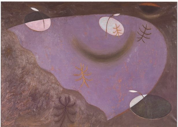 Еловой О. Фонари и деревья. Утро. 1992. Холст, масло. Галерея Синара Арт